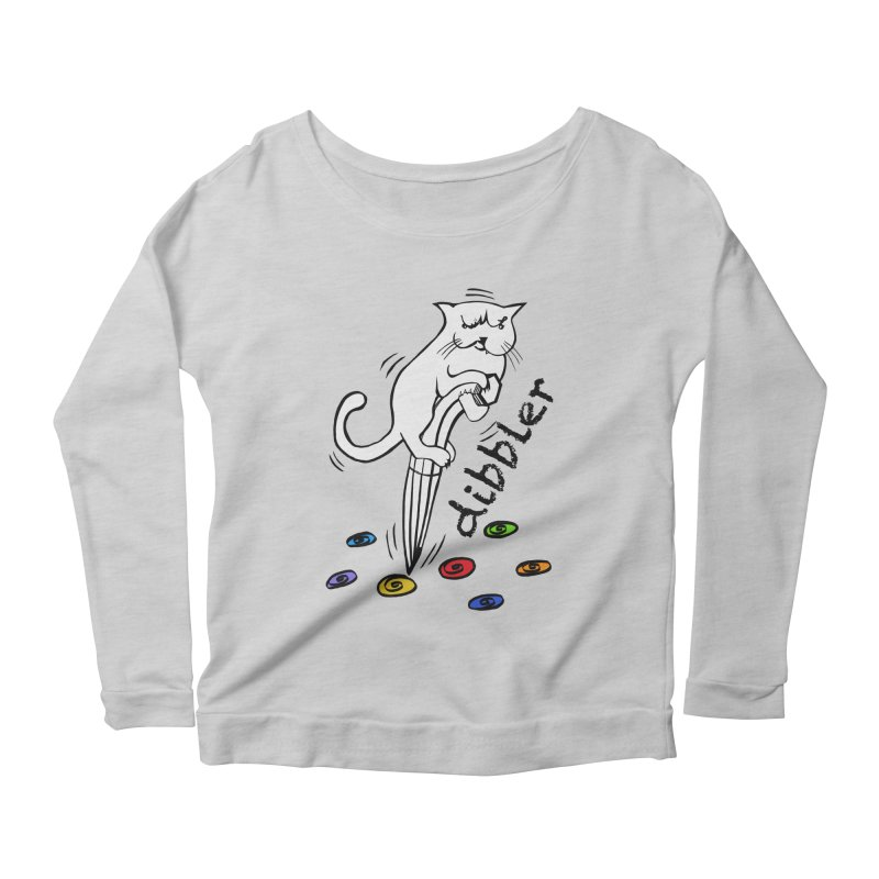 The Dashing Dibbler Women's Longsleeve Scoopneck  by DevilishDetails's Artist Shop