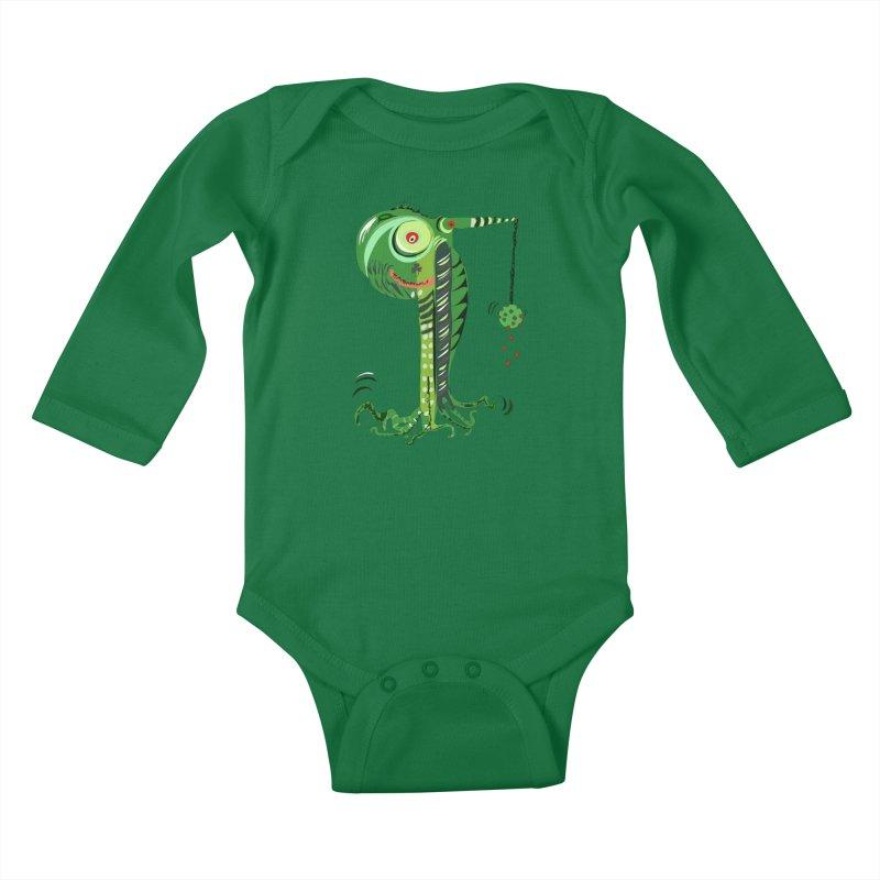 Shillelagh Kids Baby Longsleeve Bodysuit by DevilishDetails's Artist Shop
