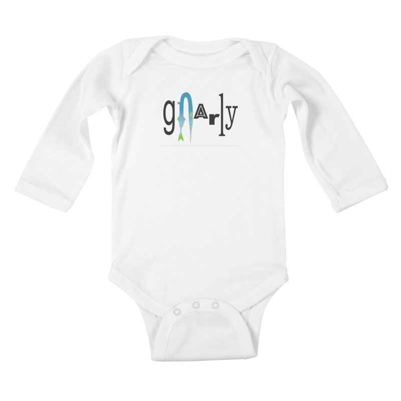 Gnarly Kids Baby Longsleeve Bodysuit by DevilishDetails's Artist Shop