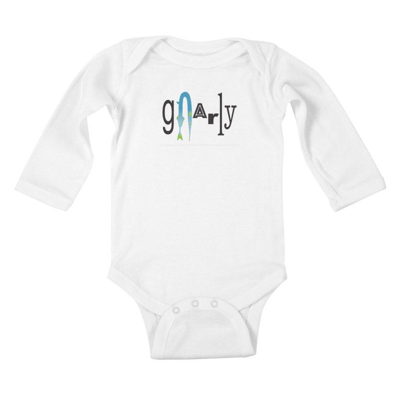 Gnarly Kids Baby Longsleeve Bodysuit by DevilishDetails's Artist Shop