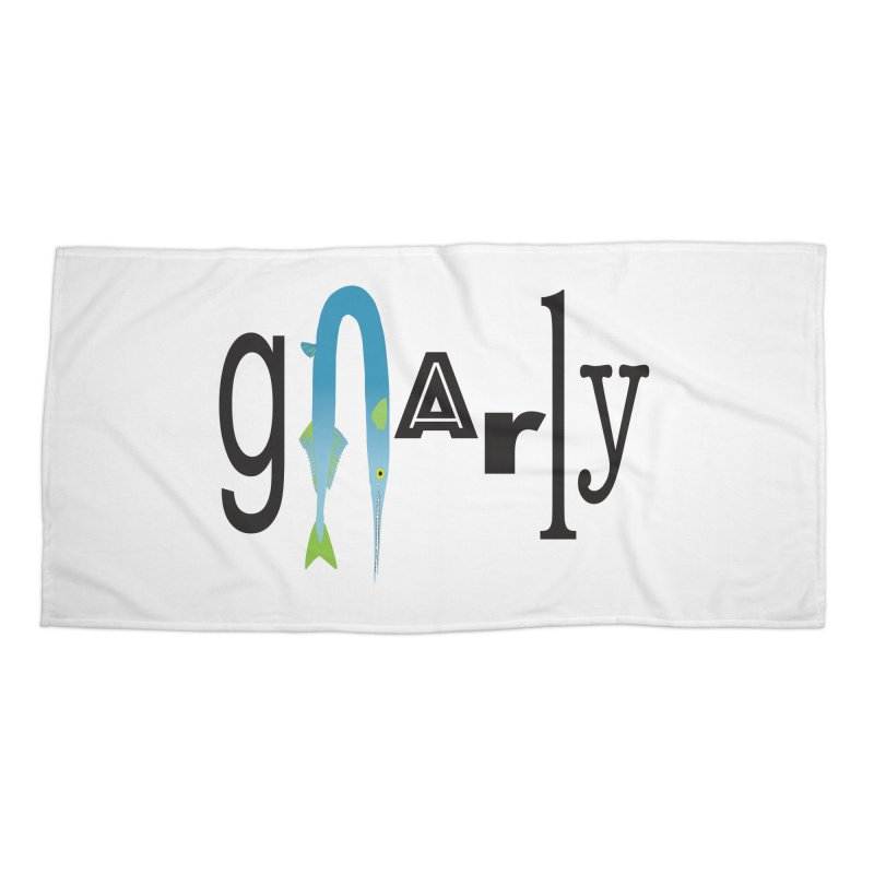 Gnarly Accessories Beach Towel by DevilishDetails's Artist Shop