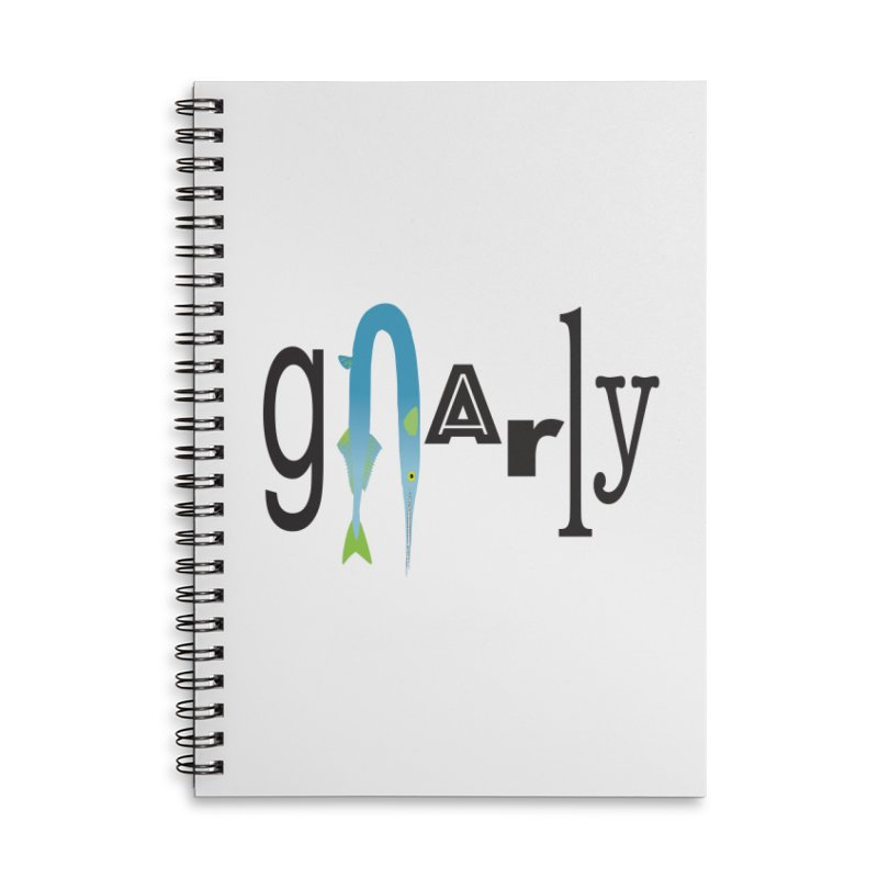 Gnarly Accessories Lined Spiral Notebook by DevilishDetails's Artist Shop