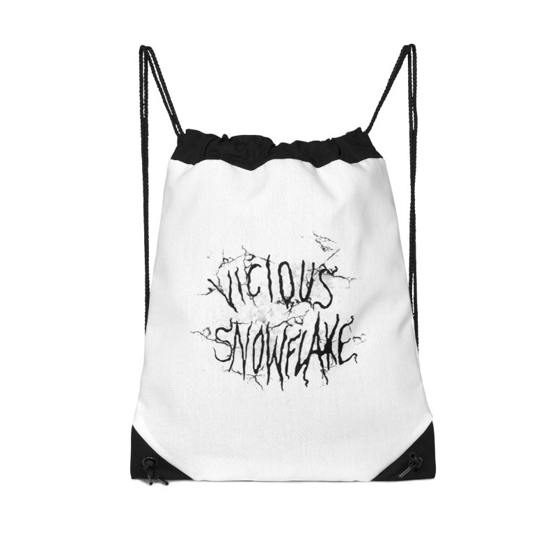 Vicious Snowflake Accessories Drawstring Bag Bag by DiegoMRod's Artist Shop