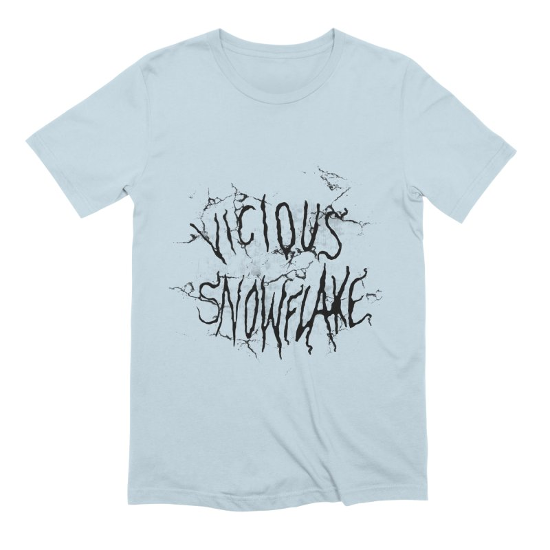 Vicious Snowflake Men's Extra Soft T-Shirt by DiegoMRod's Artist Shop