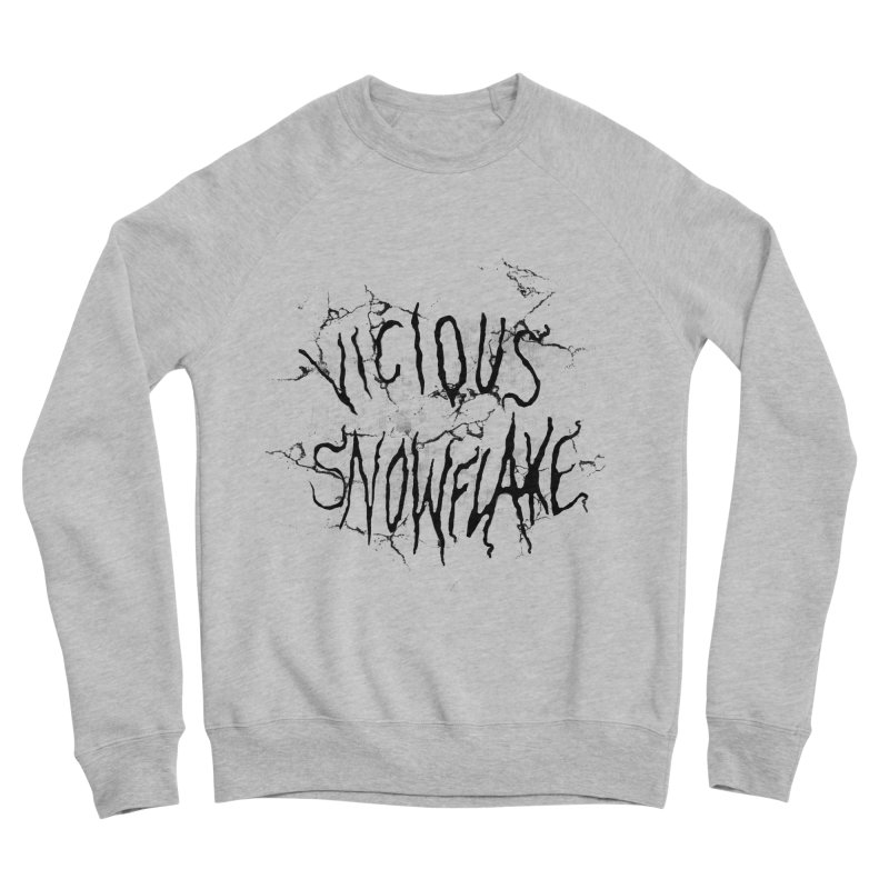 Vicious Snowflake Men's Sponge Fleece Sweatshirt by DiegoMRod's Artist Shop