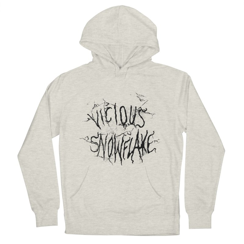 Vicious Snowflake Men's French Terry Pullover Hoody by DiegoMRod's Artist Shop