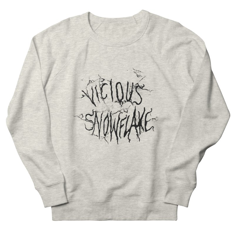 Vicious Snowflake Men's French Terry Sweatshirt by DiegoMRod's Artist Shop