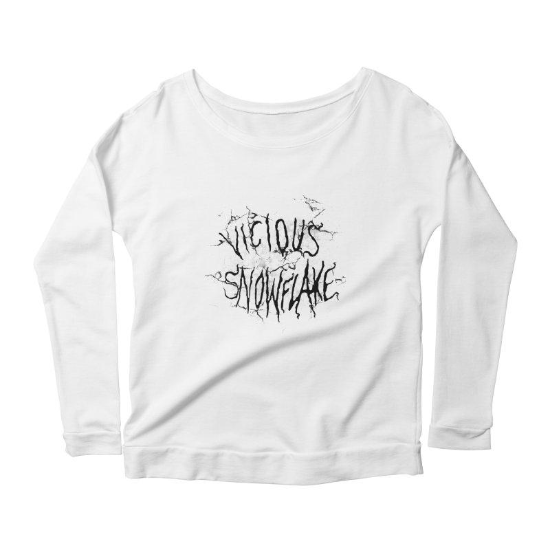 Vicious Snowflake Women's Scoop Neck Longsleeve T-Shirt by DiegoMRod's Artist Shop