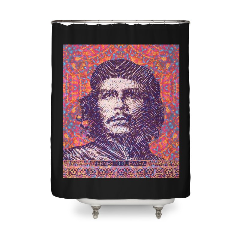 Che Guevara Pop Art Home Shower Curtain by The Digital Crafts Shop