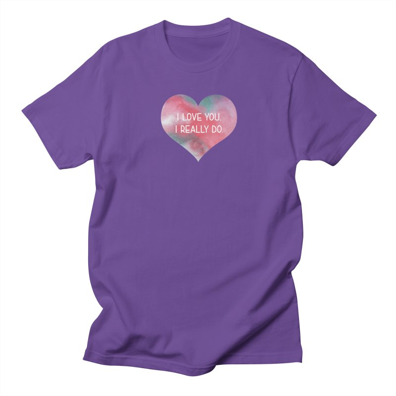 I Really Love You Heart Men's Regular T-Shirt by The Digital Crafts Shop