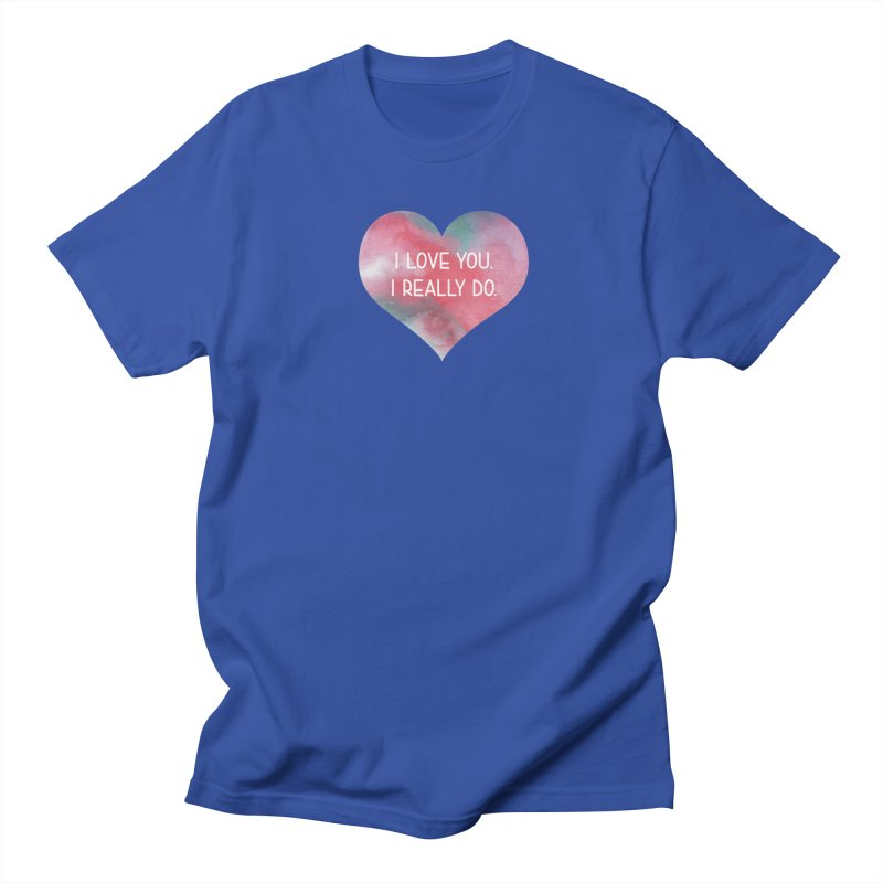 I Really Love You Heart Men's T-Shirt by The Digital Crafts Shop