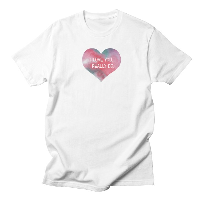 I Really Love You Heart in Men's T-shirt White by The Digital Crafts Shop