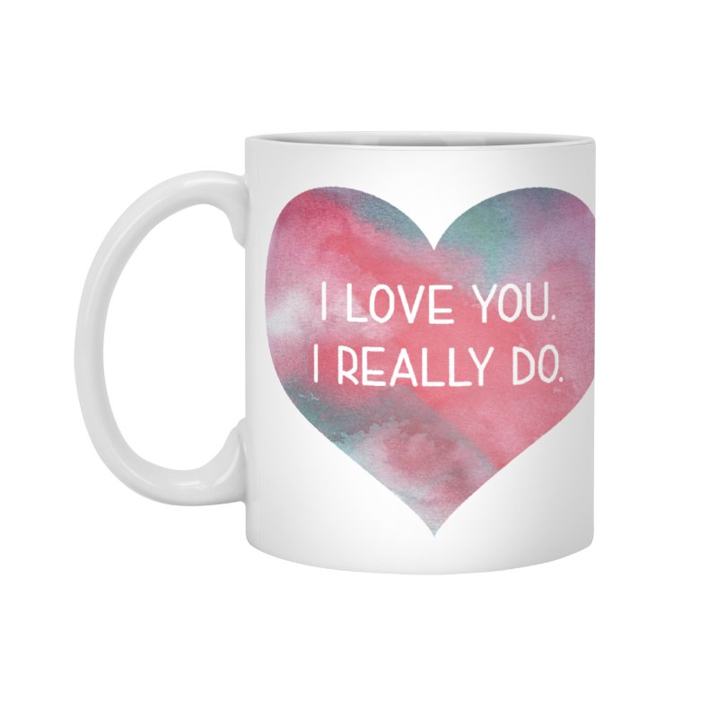 I Really Love You Heart Accessories Mug by The Digital Crafts Shop
