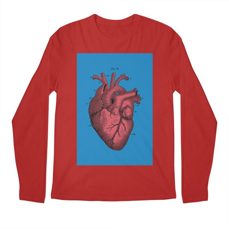 Vintage Anatomy Heart Men's Longsleeve T-Shirt by The Digital Crafts Shop