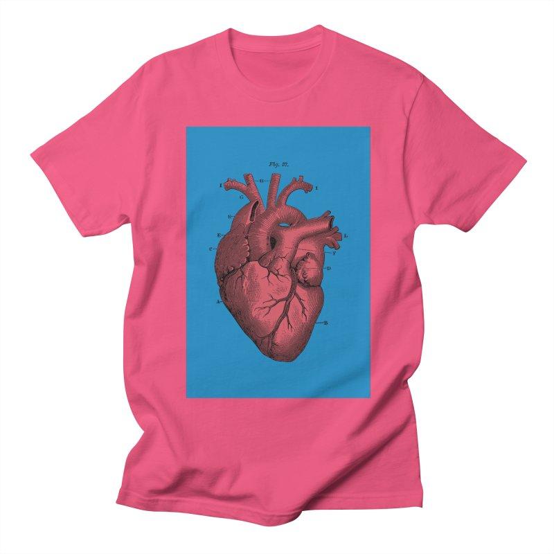Vintage Anatomy Heart Men's T-shirt by The Digital Crafts Shop