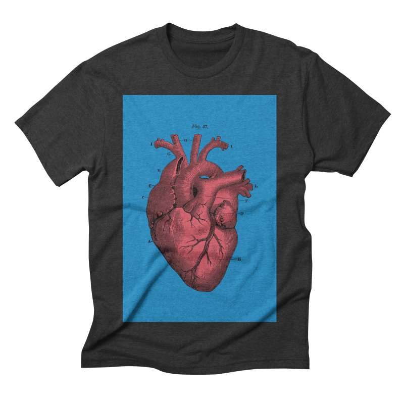 Vintage Anatomy Heart Men's Triblend T-shirt by The Digital Crafts Shop