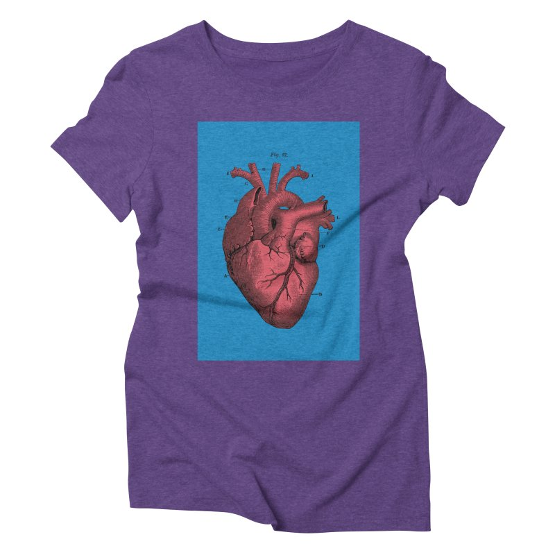 Vintage Anatomy Heart Women's Triblend T-shirt by The Digital Crafts Shop