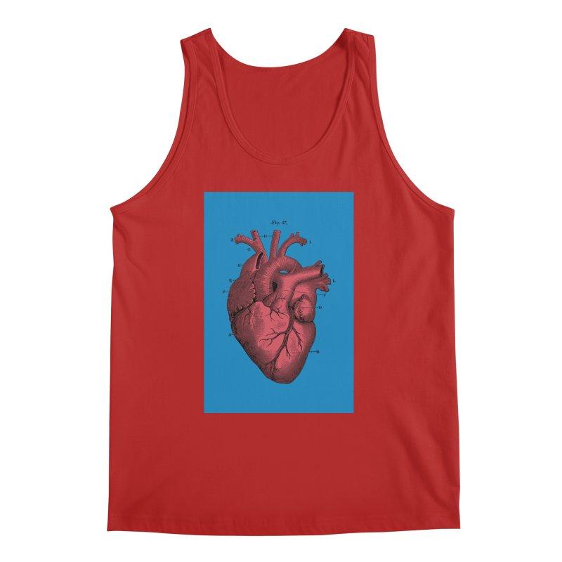 Vintage Anatomy Heart Men's Tank by The Digital Crafts Shop