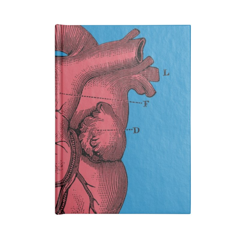 Vintage Anatomy Heart Illustration Accessories Notebook by The Digital Crafts Shop