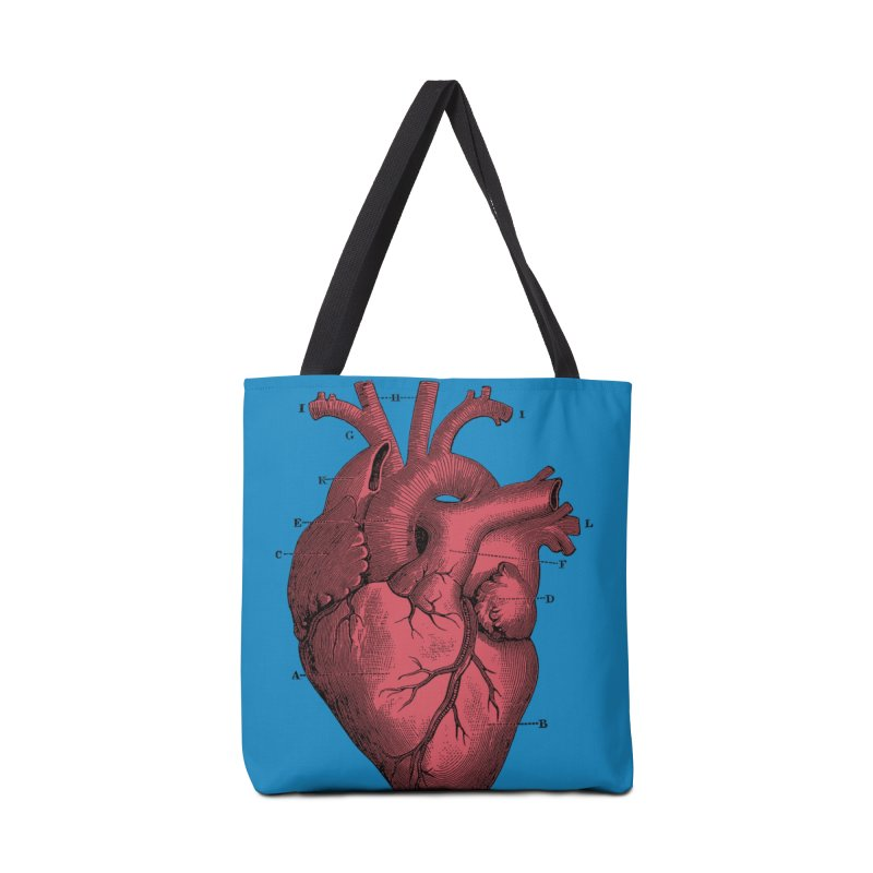 Vintage Anatomy Heart Accessories Bag by The Digital Crafts Shop