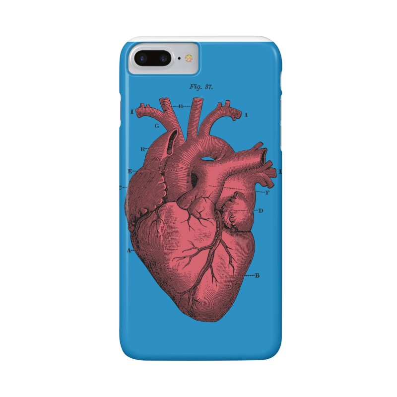 Vintage Anatomy Heart Illustration Accessories Phone Case by The Digital Crafts Shop