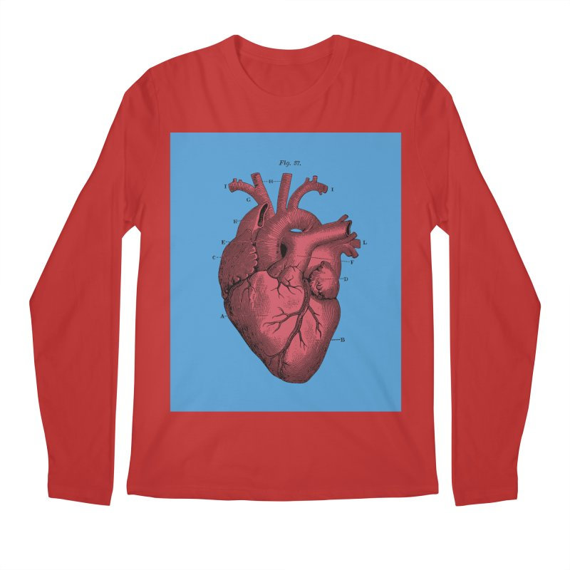 Vintage Anatomy Heart Illustration Men's Regular Longsleeve T-Shirt by The Digital Crafts Shop