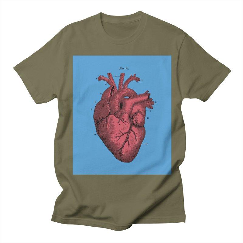Vintage Anatomy Heart Illustration Men's T-shirt by The Digital Crafts Shop