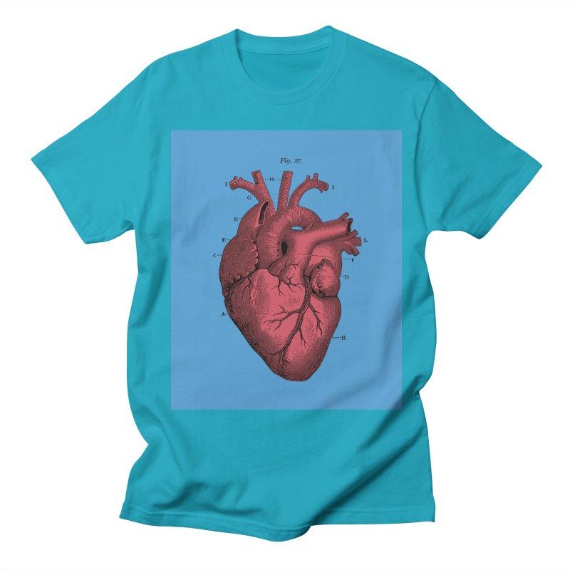 Vintage Anatomy Heart Illustration Women's Regular Unisex T-Shirt by The Digital Crafts Shop