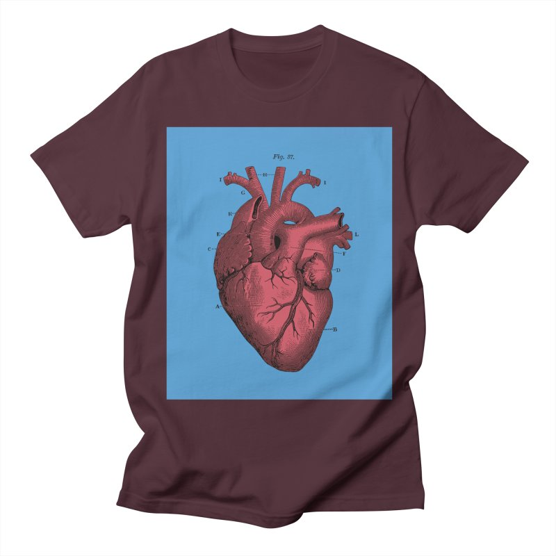 Vintage Anatomy Heart Illustration Women's Unisex T-Shirt by The Digital Crafts Shop