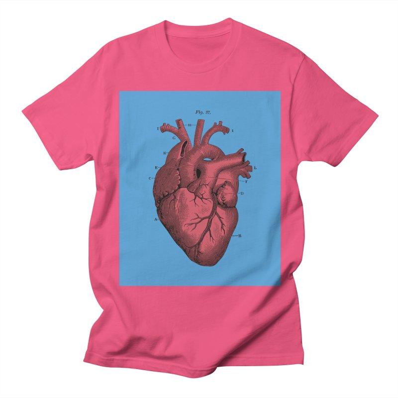 Vintage Anatomy Heart Illustration Men's Regular T-Shirt by The Digital Crafts Shop