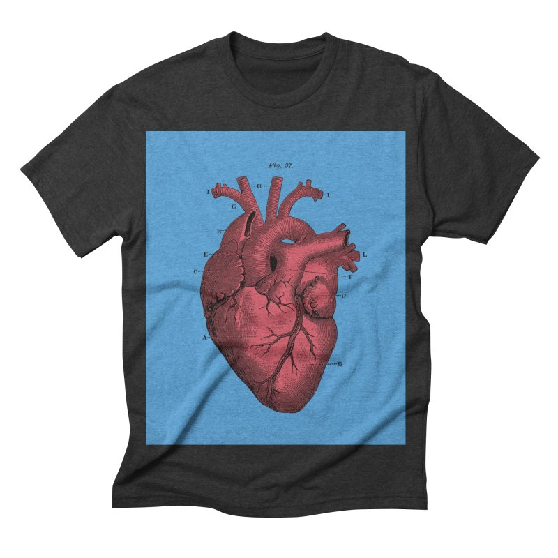 Vintage Anatomy Heart Illustration Men's Triblend T-shirt by The Digital Crafts Shop