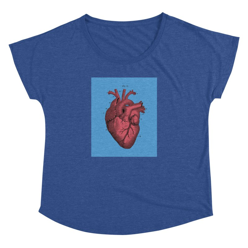 Vintage Anatomy Heart Illustration Women's Dolman by The Digital Crafts Shop