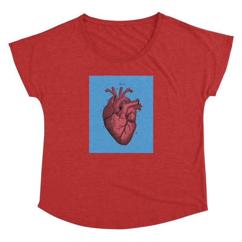 Vintage Anatomy Heart Illustration Women's Dolman by The Digital Crafts Shop