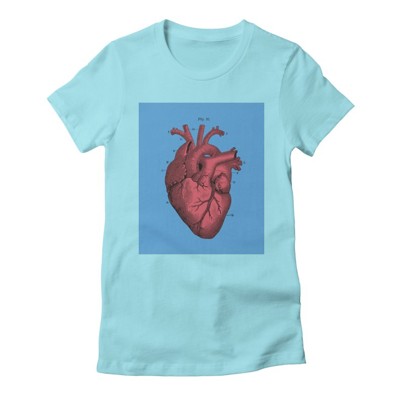 Vintage Anatomy Heart Illustration Women's Fitted T-Shirt by The Digital Crafts Shop