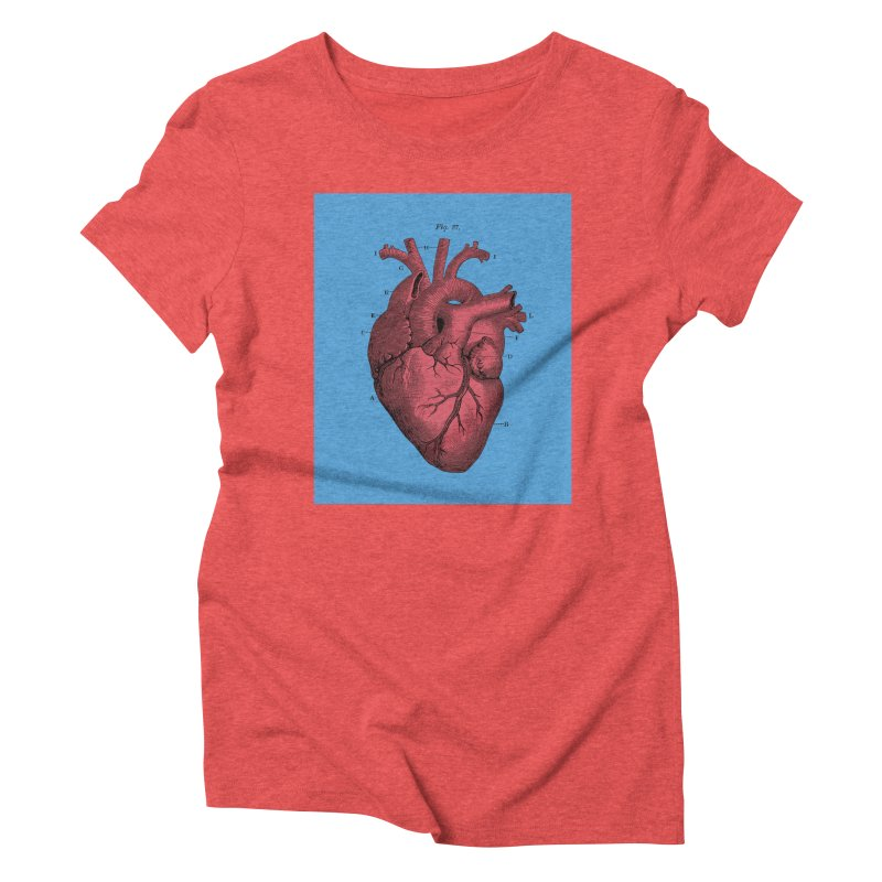 Vintage Anatomy Heart Illustration Women's Triblend T-shirt by The Digital Crafts Shop