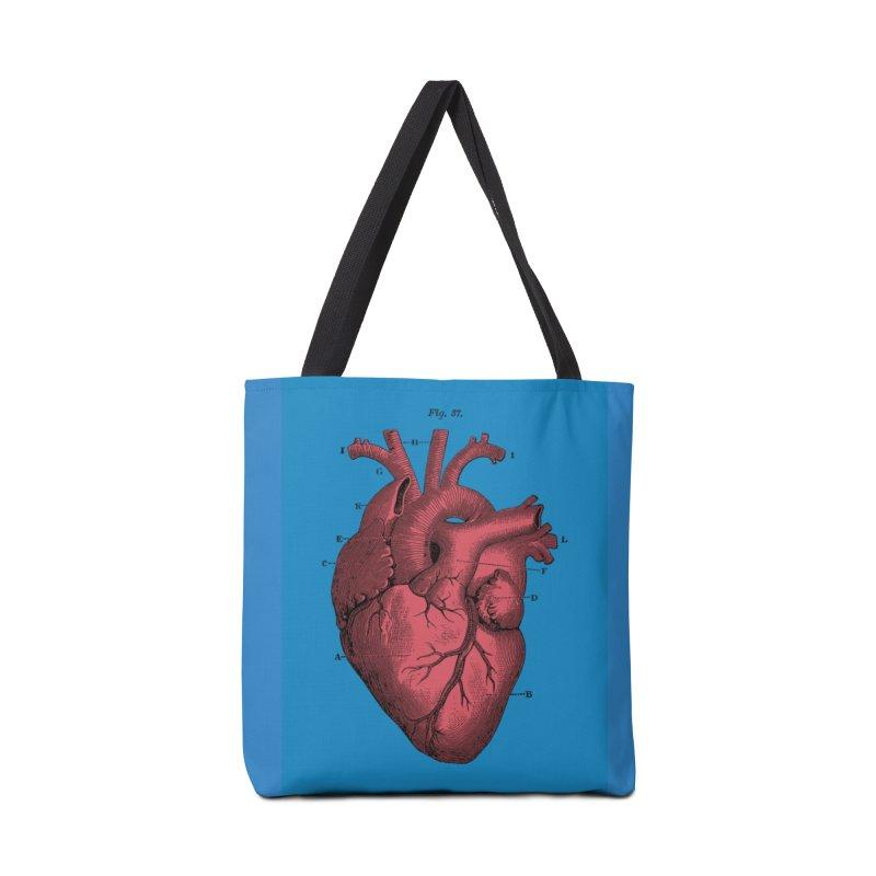 Vintage Anatomy Heart Illustration Accessories Tote Bag Bag by The Digital Crafts Shop