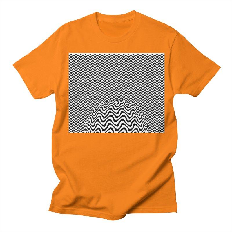 Wave Sphere Men's Regular T-Shirt by The Digital Crafts Shop
