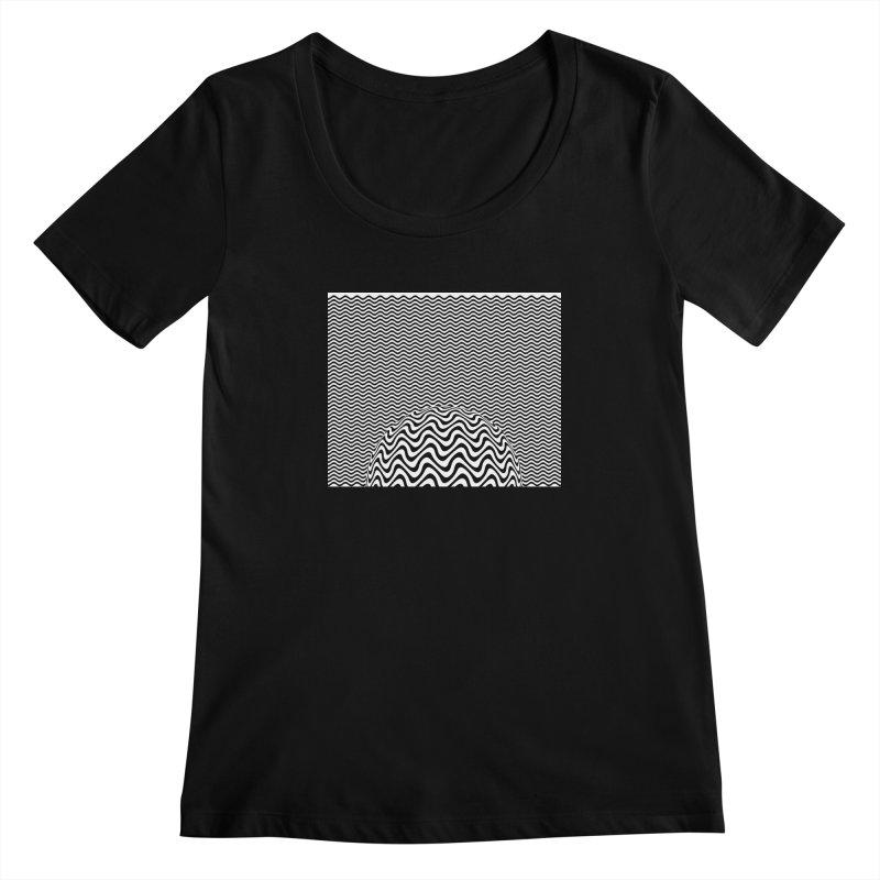 Wave Sphere Women's Scoopneck by The Digital Crafts Shop