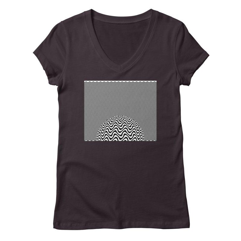 Wave Sphere Women's Regular V-Neck by The Digital Crafts Shop