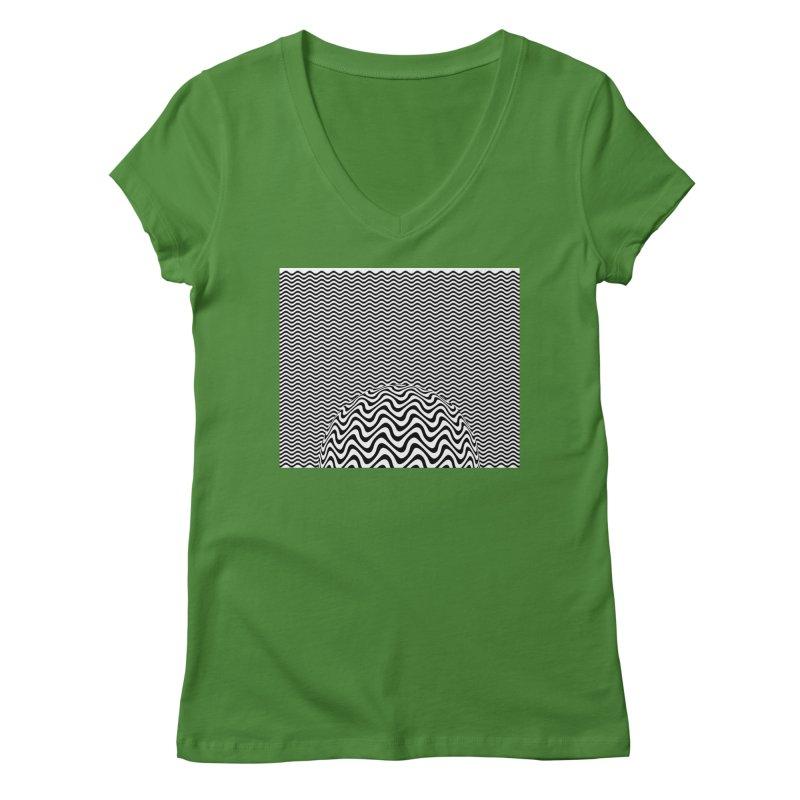Wave Sphere Women's V-Neck by The Digital Crafts Shop