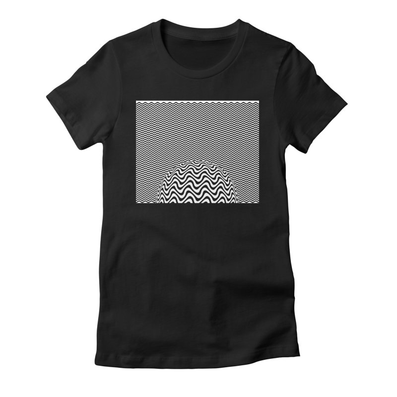 Wave Sphere Women's Fitted T-Shirt by The Digital Crafts Shop