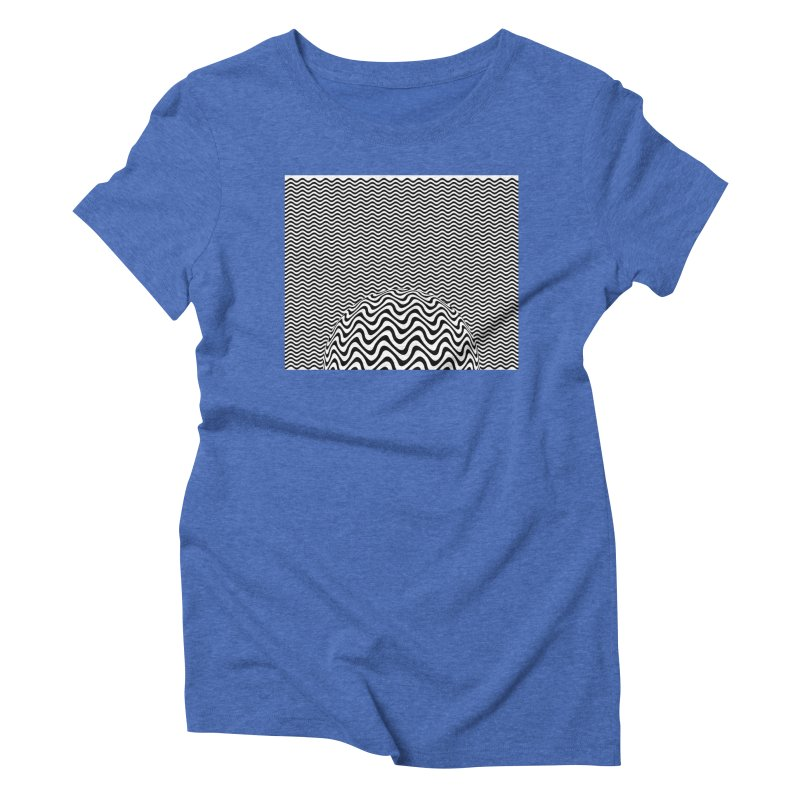 Wave Sphere Women's Triblend T-shirt by The Digital Crafts Shop