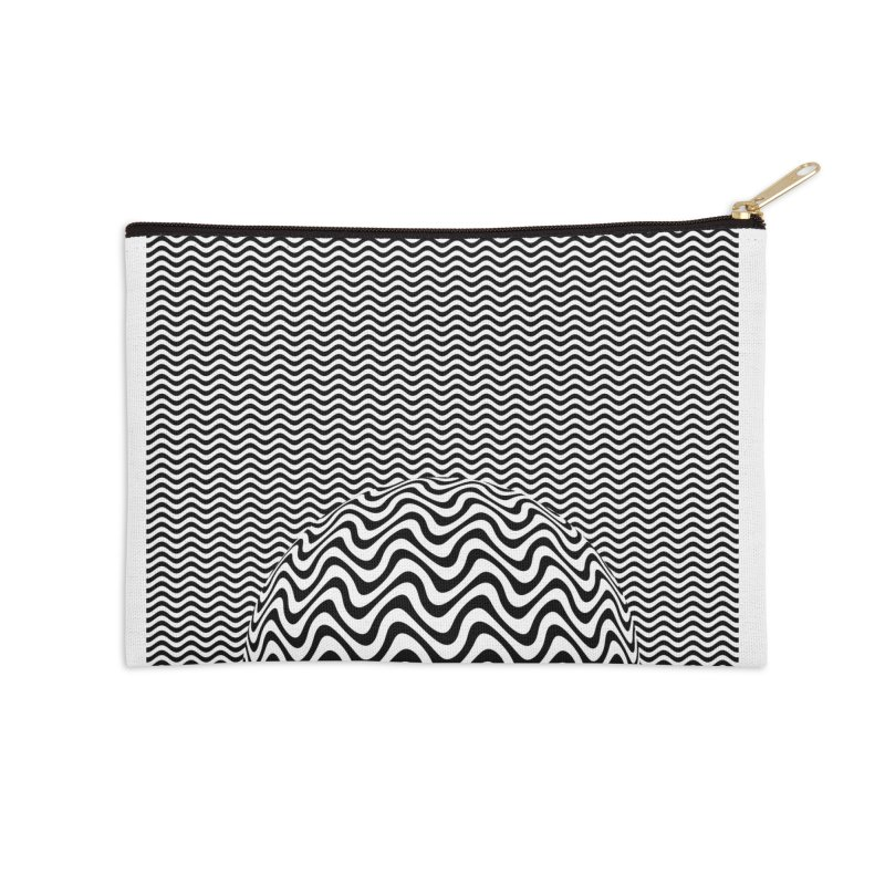 Wave Sphere Accessories Zip Pouch by The Digital Crafts Shop
