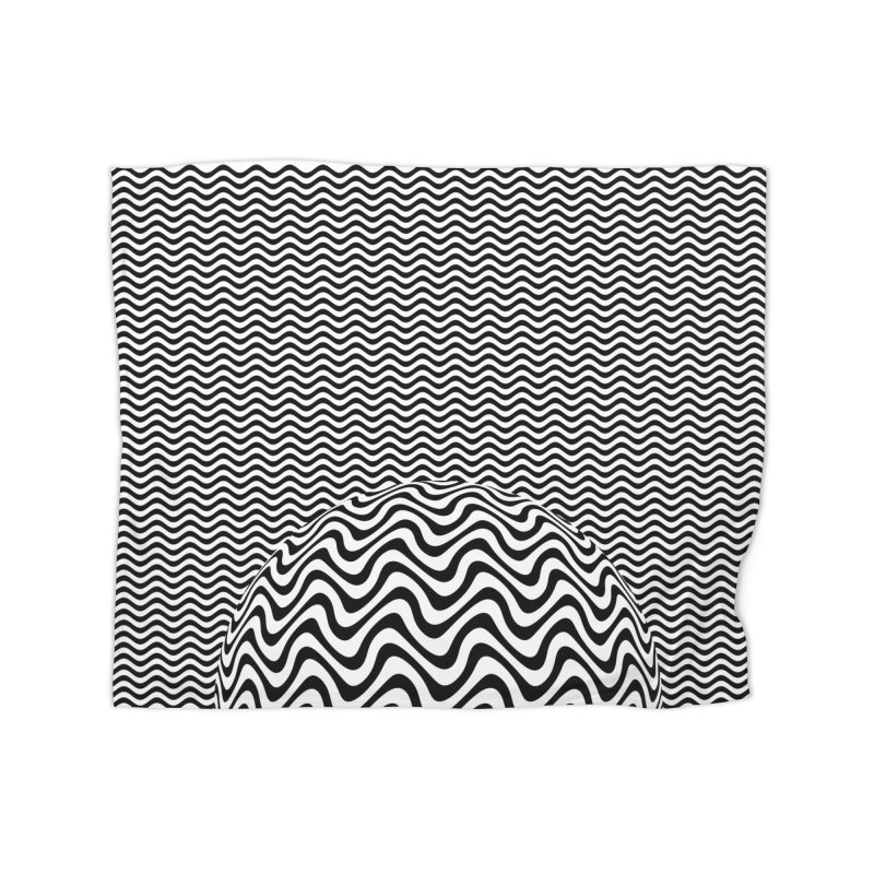 Wave Sphere Home Fleece Blanket Blanket by The Digital Crafts Shop