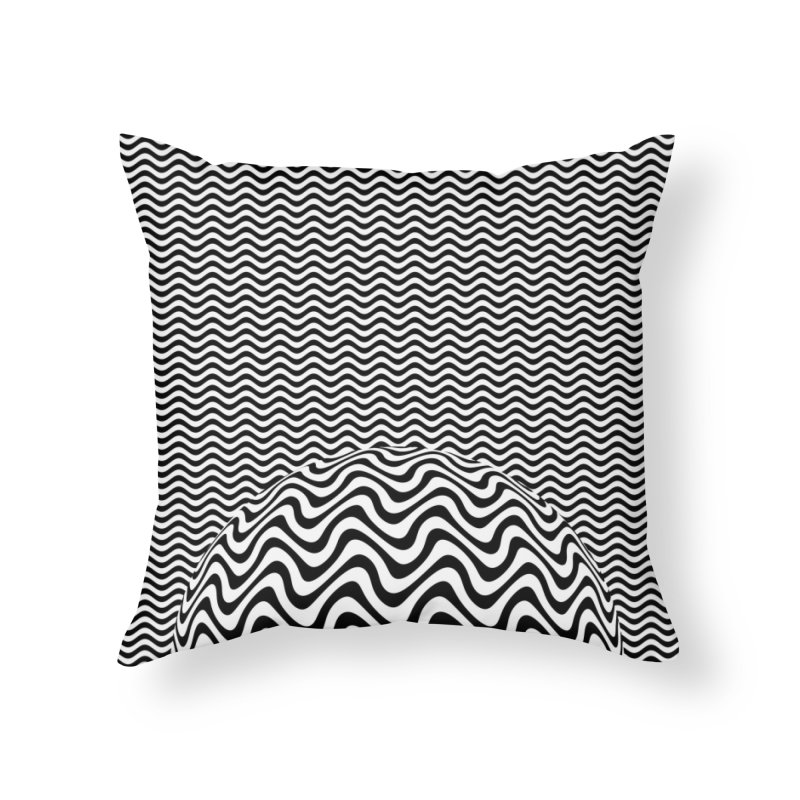 Wave Sphere Home Throw Pillow by The Digital Crafts Shop