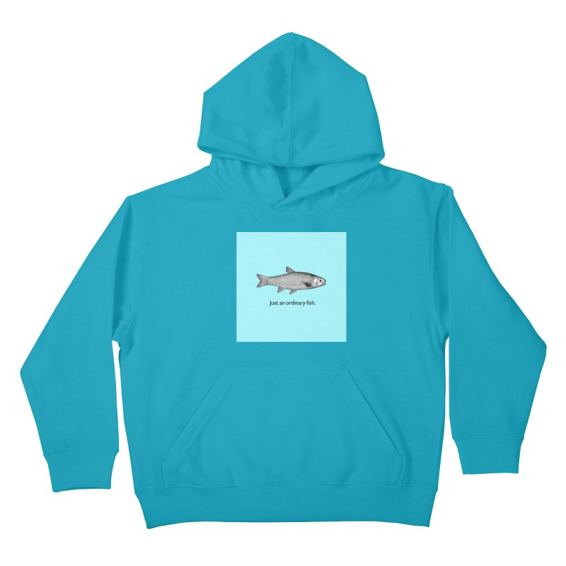Just an ordinary fish. Kids Pullover Hoody by The Digital Crafts Shop