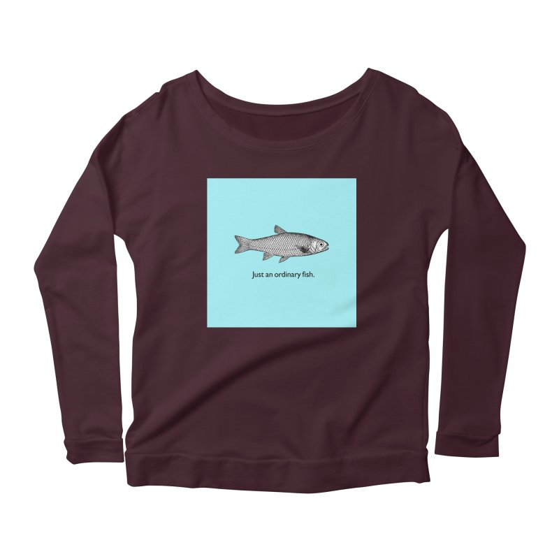 Just an ordinary fish. Women's Longsleeve Scoopneck  by The Digital Crafts Shop