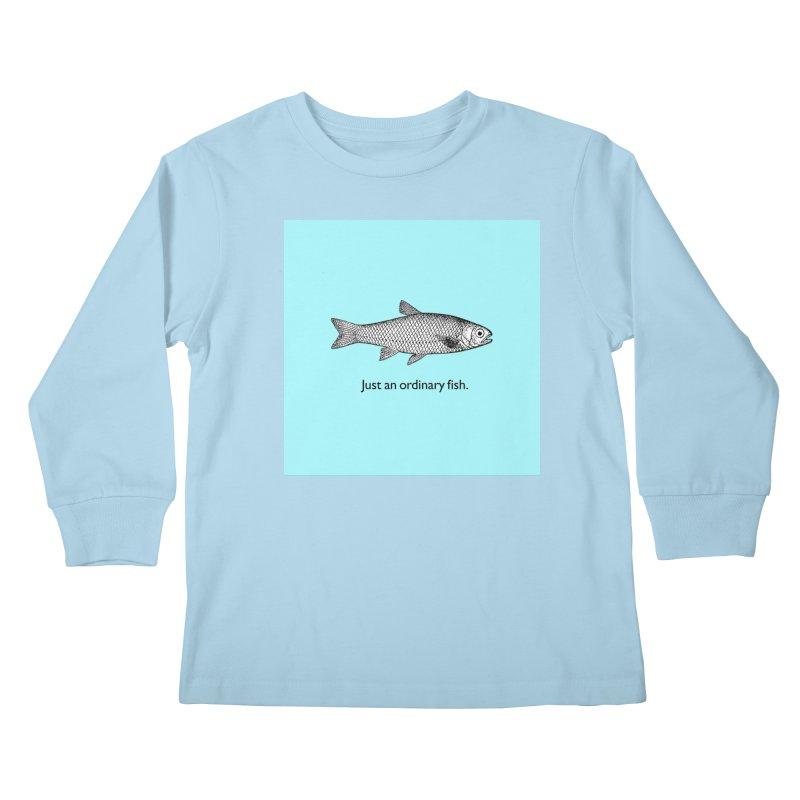 Just an ordinary fish. Kids Longsleeve T-Shirt by The Digital Crafts Shop