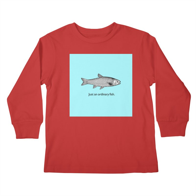 Just an ordinary fish. Kids Longsleeve T-Shirt by The Digital Crafts Shop