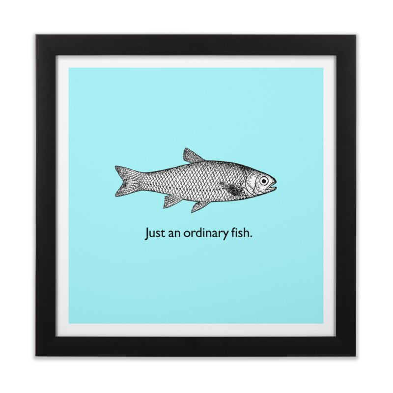 Just an ordinary fish. Home Framed Fine Art Print by The Digital Crafts Shop
